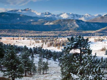colorado mountains: Sunrise over Rocky Mountain National Park, Colorado.