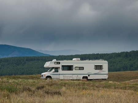 Camping at Echo Canyon Reservoir, Colorado.