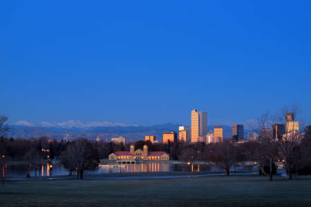 A view of downtown Denver before sunrise. Stock Photo - 11249705