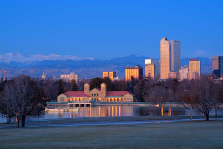 A view of downtown Denver before sunrise. Stock Photo - 11249716