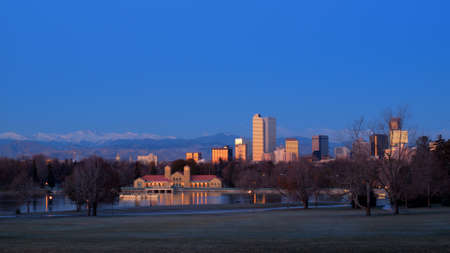 A view of downtown Denver before sunrise. Stock Photo - 11249704