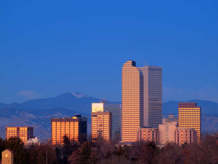A view of downtown Denver before sunrise. Stock Photo - 11249714