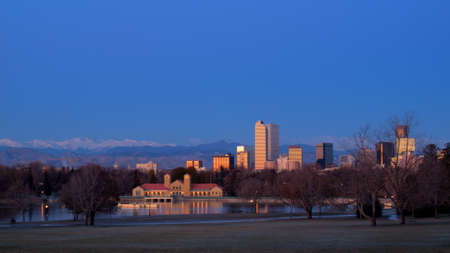 A view of downtown Denver before sunrise. Stock Photo - 11249700