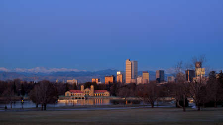 A view of downtown Denver before sunrise. Stock Photo - 11249701