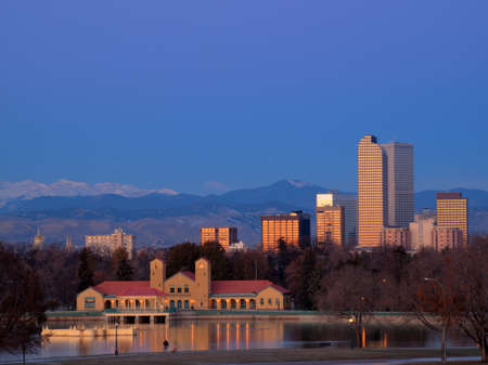 A view of downtown Denver before sunrise. Stock Photo - 11249712