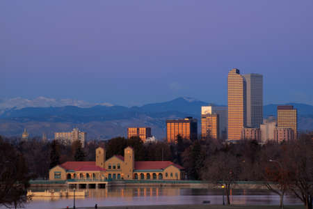A view of downtown Denver before sunrise. Stock Photo - 11249710