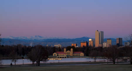 A view of downtown Denver before sunrise. Stock Photo - 11249699