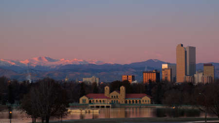 A view of downtown Denver before sunrise. Stock Photo - 11249702