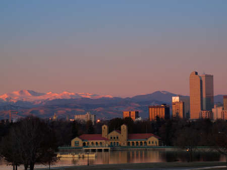 A view of downtown Denver before sunrise. Stock Photo - 11249707