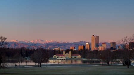 A view of downtown Denver before sunrise. Stock Photo - 11249706