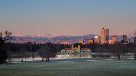 A view of downtown Denver before sunrise. Stock Photo - 11249708