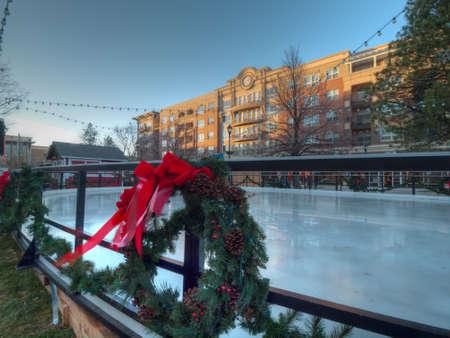 denver at christmas: 3rd Annual Christmas Tree Lighting at the Streets of Southglenn. Denver, Colorado.