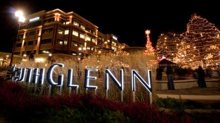 christmas in denver: 3rd Annual Christmas Tree Lighting at the Streets of Southglenn. Denver, Colorado.