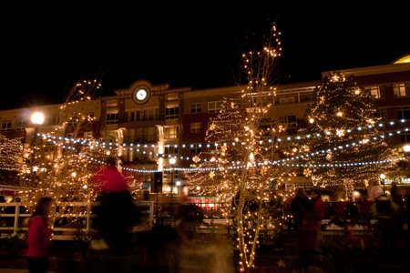 3rd Annual Christmas Tree Lighting at the Streets of Southglenn. Denver, Colorado.