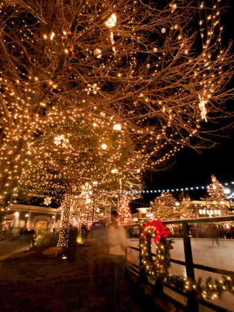 3rd Annual Christmas Tree Lighting at the Streets of Southglenn. Denver, Colorado. Stock Photo - 11259939
