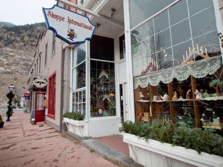 main street: Inverno sulla via principale di Georgetown, Colorado.