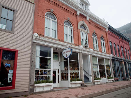 main street: Inverno in Main Street di Georgetown, Colorado.