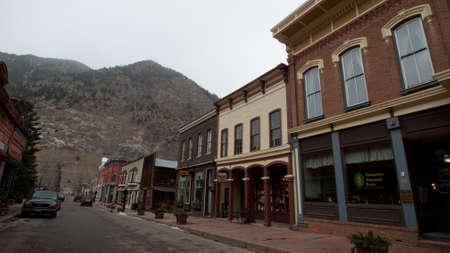 Winter on Main Street of Georgetown, Colorado.