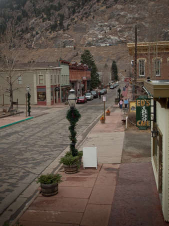 Winter on Main Street of Georgetown, Colorado.
