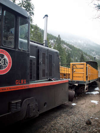 Historic Colorado Georgetown Loop Railroad in Georgetown, Colorado.