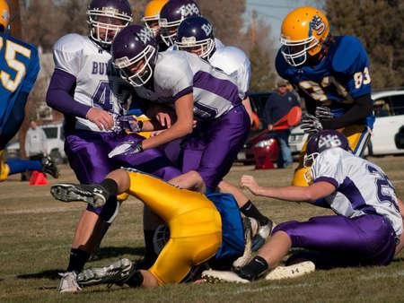 high school football: High school football game Simla vs. Elbert at Simla, Colorado.