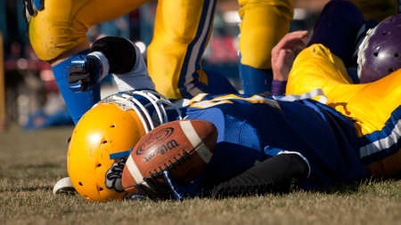 High school football game Simla vs. Elbert at Simla, Colorado.