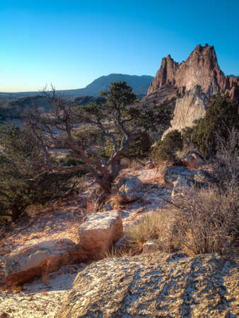 �rock formation�: Sunrise at Garden of the Gods Rock Formation in Colorado.
