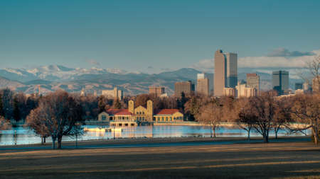A view of downtown Denver before sunrise. Stock Photo - 11336638
