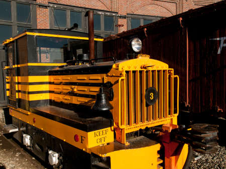 caboose: GE U4 is a narrow gauge swither from Golden City and San Juan Railroad of Plymouth, FL. Editorial