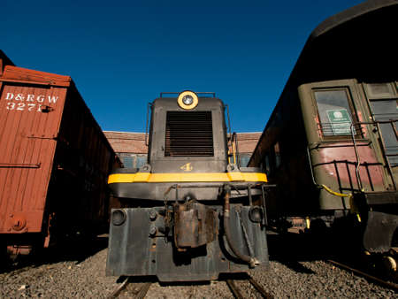 colorado railroad museum: This General Electric Switcher was used to move rolling stock and locomotives. Editorial