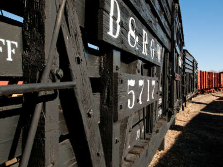 adn: Denver & Rio Grande Western N � 5666 (N) stock car para el transporte de bovinos, ovinos ADN.