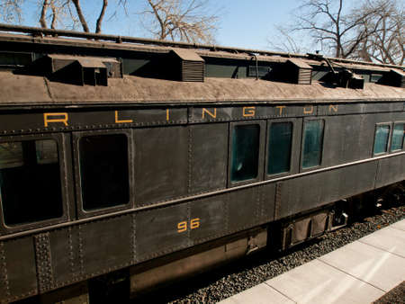 Chicago Burlington & Quincy Business Car No. 96 as a traveling office with overnight accommodations and kitchen facility.