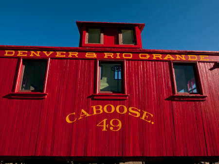 colorado railroad museum: Denver & Rio Grande No. 49  (N) caboose used by early reailroads.