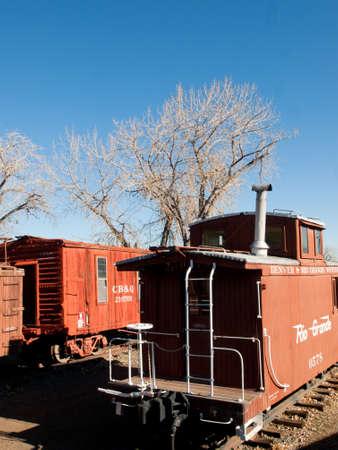 colorado railroad museum: Rio Grande Southern red caboose.
