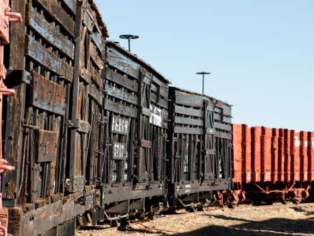 caboose: Denver & Rio Grande Western No. 5666 (N) stock car for transporting cattle adn sheep. Editorial
