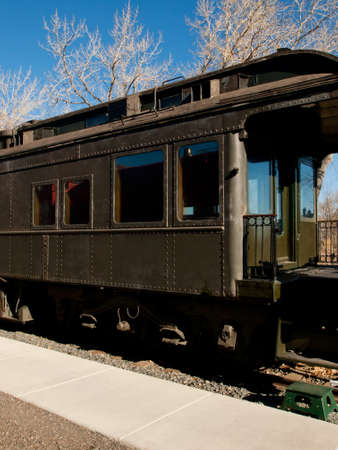 colorado railroad museum: Chicago Burlington & Quincy Business Car No. 96 as a traveling office with overnight accommodations and kitchen facility.