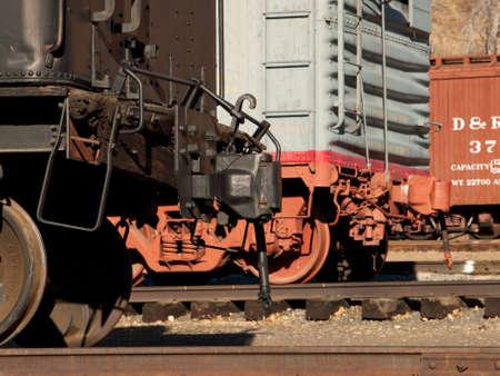 colorado railroad museum: Close up od the vintage train wheel.