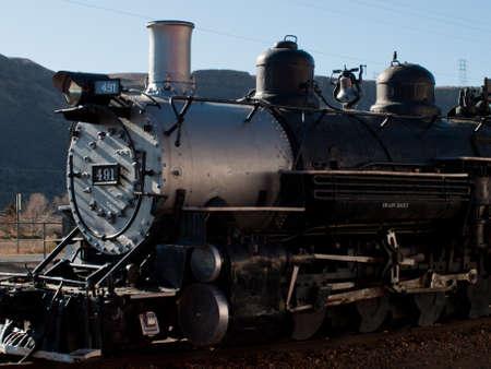 colorado railroad museum: Denver & Rio Grande Western Railroad Steam locomotive No. 491. Editorial