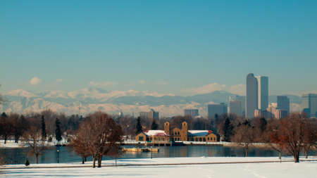 A view of downtown Denver in snow. Stock Photo - 11421645