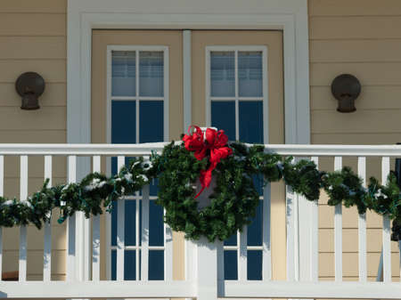 denver at christmas: House decorated for winter holidays.