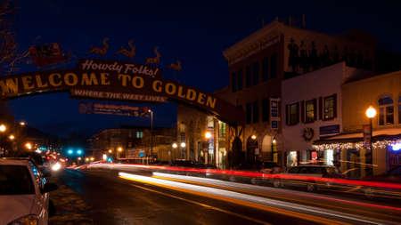 Olde Golden Christmas Candlelight Walk. Main street of Golden, Colorado.