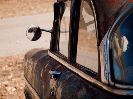 Old cars at the garage in Ramah, Colorado. Stock Photo - 11471702