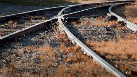 limon: Railroad tracks at the Heritage Center in Limon, Colorado.