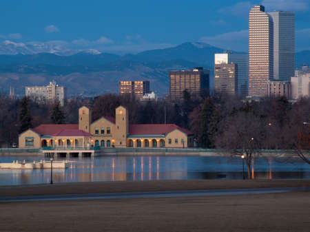 A view of downtown Denver before sunrise. Stock Photo - 11414362