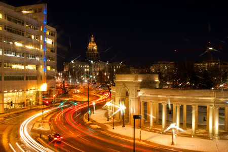 christmas in denver: Civic Center in Denver, Colorado.