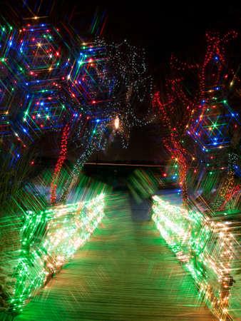Trail Of Lights At Denver Botanical Gardens At Chatfield. Stock ...