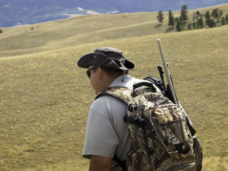 A father and scouting area for big game hunt. Image taken in Colorado. Reklamní fotografie