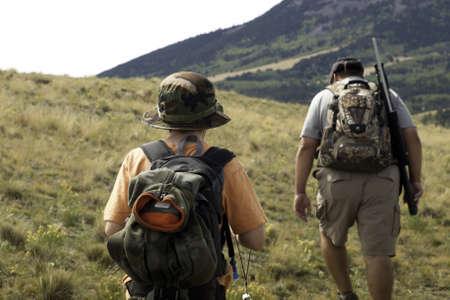 Un padre y un área de exploración para la caza mayor. Imagen tomada en Colorado. Foto de archivo - 11488247