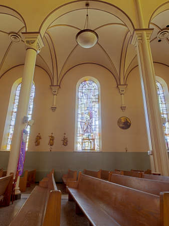 Interior of the St. Elizabeth of Hungary on Auroria Campus in Denver.