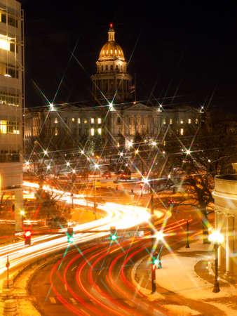 denver at christmas: Civic Center in Denver, Colorado.
